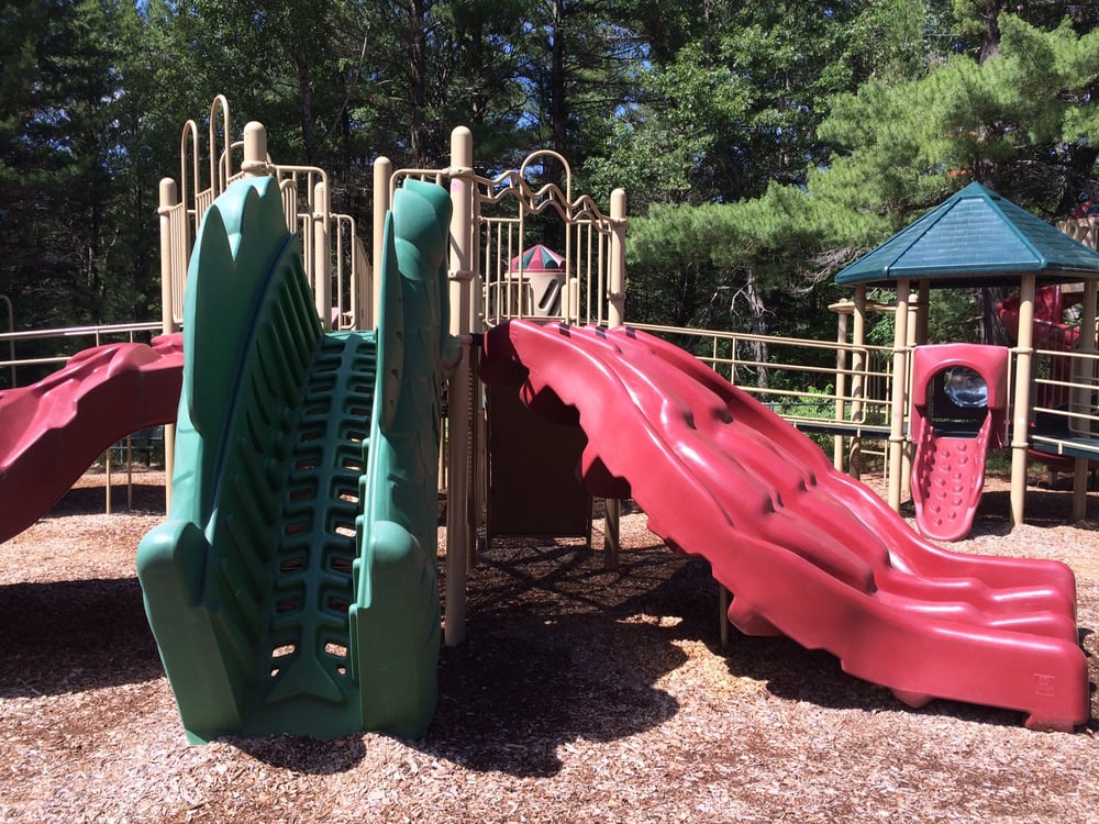 Multi-directional climbers and slides.
